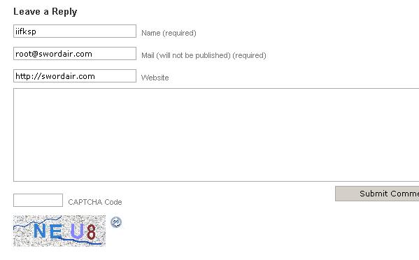SI CAPTCHA Anti Spam